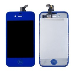 iPhone 4 - Kit Blue (LCD  Back cover  Home Buttton)