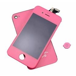 iPhone 4 - Kit Rosa (LCD tampa traseira e botao Home)