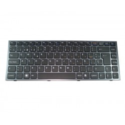 Keyboard Portuguese Sony VPC-S SERIES Black Frame Black BACK